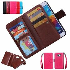 New Wallet Flip Leather Phone Case Cover For Apple iPhone Samsung Galaxy HTC LG