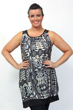 PLUS SIZE  CAPTIVE BLACK SLEEVELESS AZTEC PRINT JERSEY DRESS-  SIZE 18/20-26/28