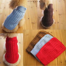 Cute Pet Dog Warm Sweater Clothes Puppy Cat Knitwear Costume Coat Apparel C