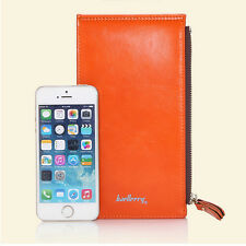 New Design Womens Clutch Buckle Soft Leather Wallet PU Long Card Purse HandbagV