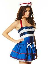 Ann Summers Hello Sailor Blue Sexy Ribbon Halter Tie Outfit Costume Fancy Dress
