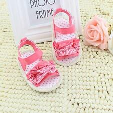 Toddler Infant Baby Girl Pleated Lace Soft Sole Sandals Summer Crib Shoes B14