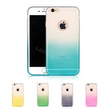 Ultra Slim Ombra Silicon rainbow gradient  covers Phone soft case For iPhone 6