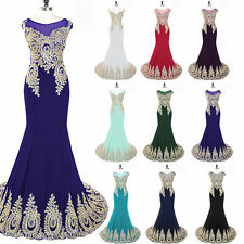 Mermaid Chiffon Womens Party Prom Evening Dress Long Pageant Gown Plus Size 2 12