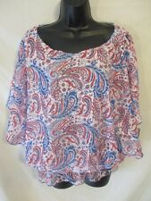 Cathy Daniels Reg & Plus Size 2 for 1 Flutter Casual Blouse w/Lining SR $52 NEW