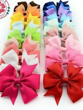 Grosgrain Ribbon Hair Bows WITH Clip/ CLIPS FLOWER BABY/GIRL