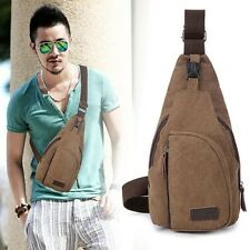 Men's Classy Canvas Sling Messenger Shoulder Bag Chest Pack Sports Backpack
