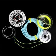 Fly Reel 5/6 Weights Large Arbor Aluminum Fly Fishing Reel & Fly Line Combo