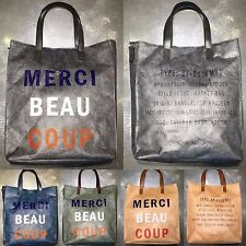 Korea New Fashion Merci Craft Paper Tote Cross Shoulder Bag Shopping Messenger