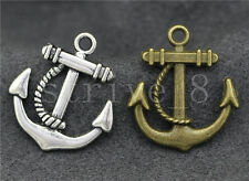 10/40/200pcs Antique Silver/Bronze exquisite anchor Charms Pendant 23x20mm
