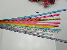 """10 yards 3/8"""" mixed 10 Style sewing satin grosgrain ribbon lot wholesale R-804"""
