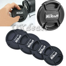 52 58 67 77 mm Center Pinch Cover For Nikon DSLR Front Lens Cap Snap-On Filters