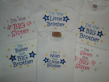 Big / Little Brother / Sister T-shirt can be personalised or  I'm going to be a