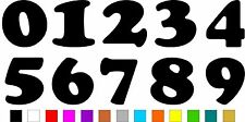 1x Set of Numbers 0 to 9 (3 inches tall) Vinyl Bumper Stickers Decals #a986