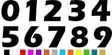 1x Set of Numbers 0 to 9 (5 inches tall) Vinyl Bumper Stickers Decals #a991