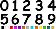 1x Set of Numbers 0 to 9 (4 inches tall) Vinyl Bumper Stickers Decals #a989