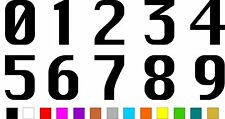 1x Set of Numbers 0 to 9 (3 inches tall) Vinyl Bumper Stickers Decals #a988