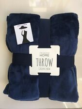 PRIMARK SOFT FLEECE THROW COSY BLANKET VARIOUS LOVELY COLOURS PLAIN OR PRINTED