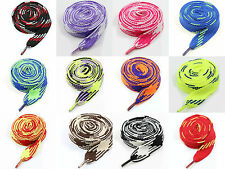 18mm & 12mm FLAT EXTRA WIDE 115cm SHOE LACES *13 COLOURS TRAINERS SNEAKERS THICK