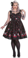 Hell Bunny Aconite Dress-Plus Size NWT Sizes 2X-4X  Pinup, Rockabilly