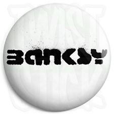 Banksy - Tag Logo Button Badge - 25mm Graffiti Badges with Fridge Magnet Option