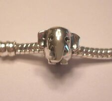 Auth .925 silver - Baby Elephant Bead Charm for Bracelet (unbranded) USA Seller