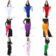 New Ladies Chiffon Belly Dance Costume Hip Scarf Tribal Triangle Tassel Belt