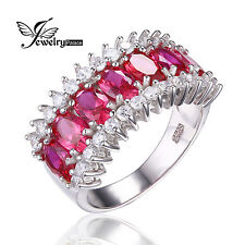 5.7ct Pigeon Blood Red Ruby Ring Solid 925 Sterling Silver Luxury Jewelry