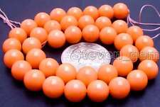 "SALE small 10-11mm round Pink natural Coral loose beads strand 15""-los494"