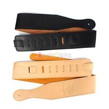 Durable PU Leather Buckle Guitar Electric Acoustic Firm Strap Straps Black Brown