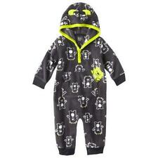 Carter's Just One You Black Fleece Hooded Jumpsuit Monsters Infant Szs