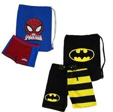 Boys Spiderman Bathers Beach Pack Size 3 4 5 6