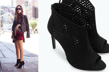 ZARA NEW SEASON BLACK OPEN WORK HIGH HEEL SANDALS SHOES AIMEE SONG-SONG OF STYLE