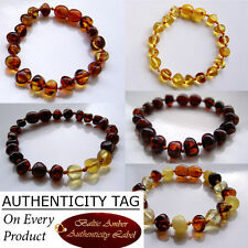 BALTIC AMBER BABY TEETHING BRACELET gift necklace bead