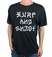 RVCA. Surf and Enjoy. Premium Fit. Mens Black Short Sleeve T-Shirt. Size X-Large