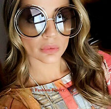 "BOHO Vintage ""LANA"" Oversized Huge Big XXL CarlIna Large Metal Wire Sunglasses L"