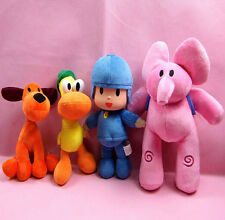 New Animal POCOYO 4pcs/lot Elly & Pato & POCOYO & Loula Stuffed Plush Toys Dolls
