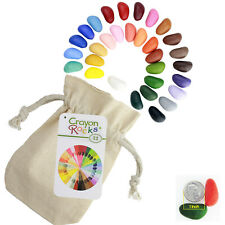 Crayon Rocks: Soy Wax Crayons in 32 Colors in a Cotton Muslin Bag
