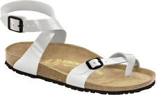 Birkenstock Birko-Flor Yara $129rrp Shiny Lacquer White BNIB ***CLEARANCE***