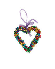 BNWT Namaste Multi Coloured Hanging Heart Christmas Decoration!!