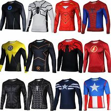 Superhero Marvel Comics Costume Cycling T-Shirts Long Sleeve Bicycle Jersey HOT
