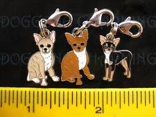 Chihuahua Dog Dangle bracelet charm + lobster  clasp choose 3 colors styles