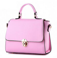 Elegant Ladies Leather Handbag Tote School Bag Messenger Shoulder Bookbag Hobo