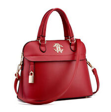Female Shell Leather Shoulder Bag Zipper Crossbody Messenger Handbag Tote