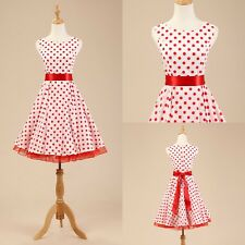 Sweet Girl Vintage Retro 1950's 60s Rockabilly Housewife Swing Pinup Prom Dress