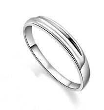 S925 Sterling Silver Streamline Man's Ring/18k GP/Matching Girl's Ring Available