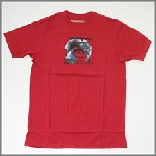 QUIKSILVER Mens T-Shirt *Size:S M L* New RED Short Sleeve Top Genuine Brand_SALE