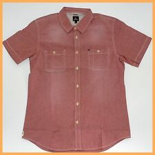 QUIKSILVER Mens Shirt *Size:L Large* NEW Short Sleeve Top-Genuine Brand RED
