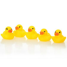 Cute 1/5/10/20Pcs Yellow Baby Children Bath Toys Cute Rubber Tweak Squeaky Duck