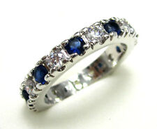 Women's Nice Jewelry Lovely 10KT White Gold Filled Sapphire Ring Size:7 8 9